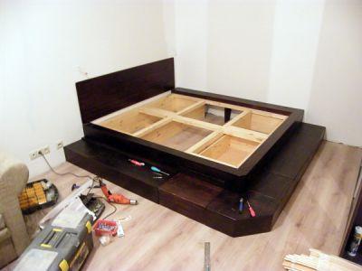 Как сделать подиум для кровати своими.  Кроватьподиум фото в интерьере Дом.  Кровать своими руками Строительный.